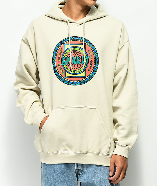 Gnarly Native Tan Hoodie