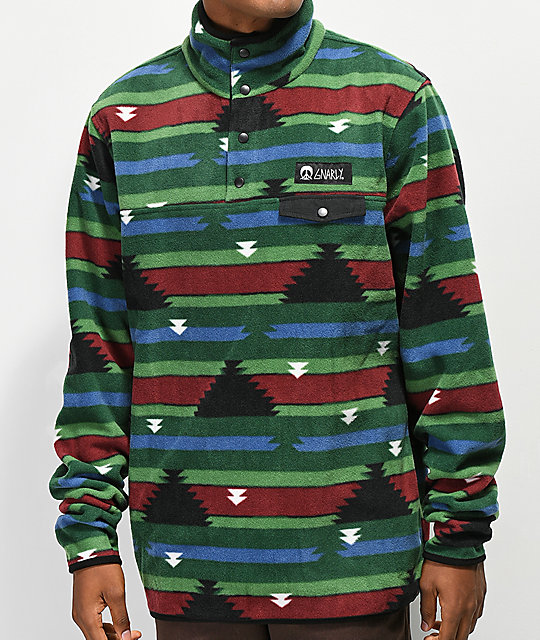Gnarly Vagabond Boulder Print Fleece Sweatshirt