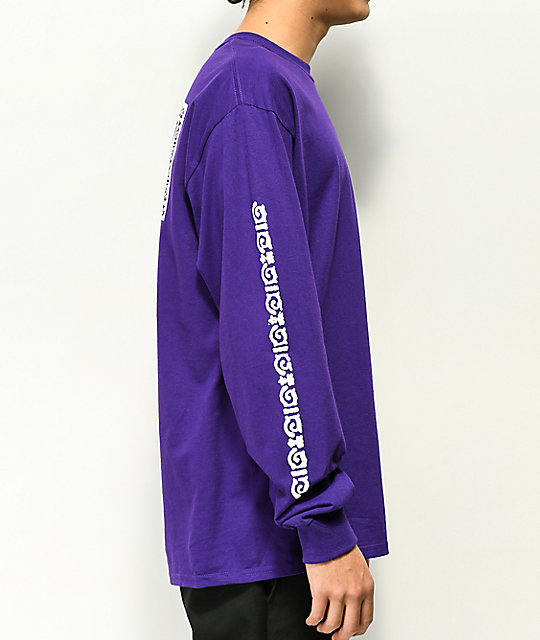 Gnarly x Roots Gear Purple Long Sleeve T-Shirt