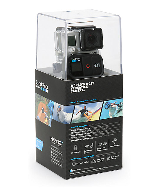 GoPro HERO3+ Black Edition Advanced HD Camera