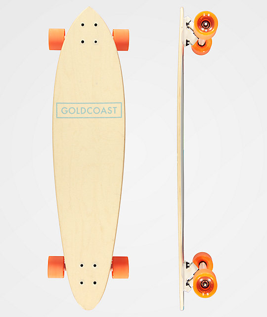 "Gold Coast Food Series B 36"" Pintail longboard completo"