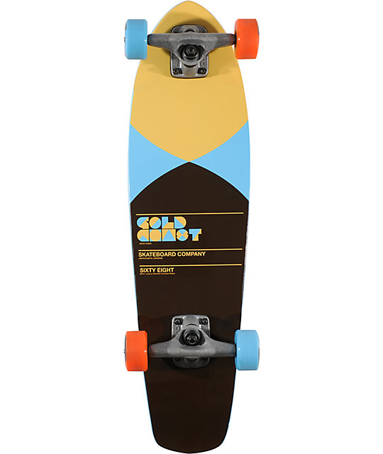"Gold Coast Pier Blue 27""  Shovel Mini Cruiser Skateboard"