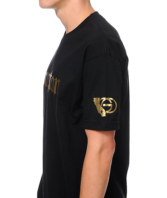 Gold Wheels Compton Black & Gold T-Shirt