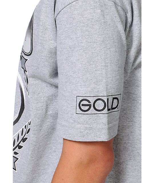 Gold Wheels Genuine Grey T-Shirt