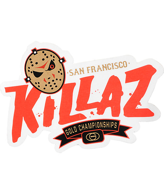 Gold Wheels MVP Killaz Sticker