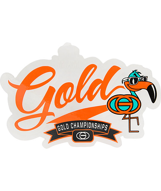 Gold Wheels MVP Miami Sticker