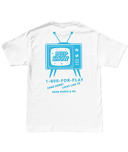 Good Worth Peep Show White T-Shirt
