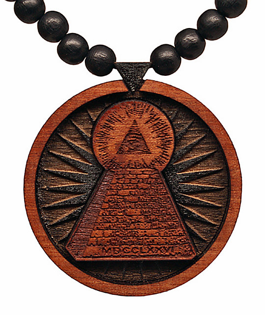 wood pendant goodwood natural replica all good amazon necklace boo com black piece ghost dp