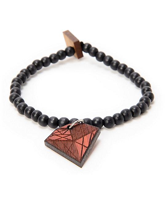 Goodwood Nyc Stone Diamond Black Wood Bracelet
