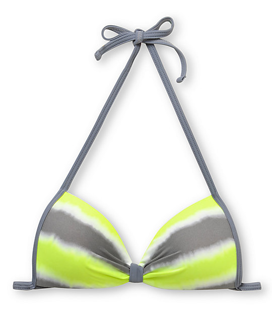 Gossip Wipe Out Yellow Molded Cup Bikini Top