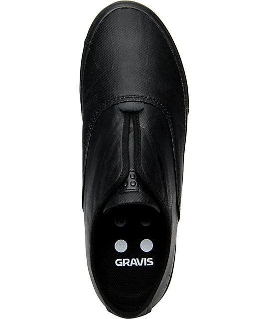3693d7c7d1 ... Gravis Dylan Slip On Black Wax Canvas Skate Shoes ...