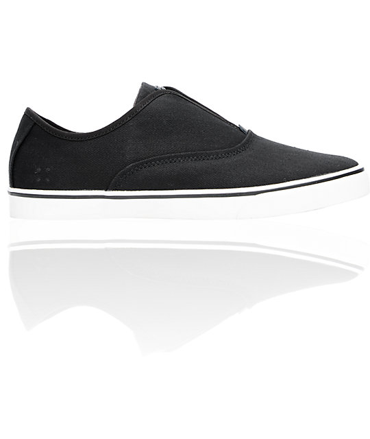 Gravis Dylan Slip On Jet Black Skate Shoes