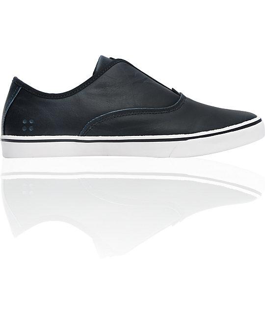3f0eada04a Gravis Dylan Slip On LX Navy Wax Canvas Skate Shoes