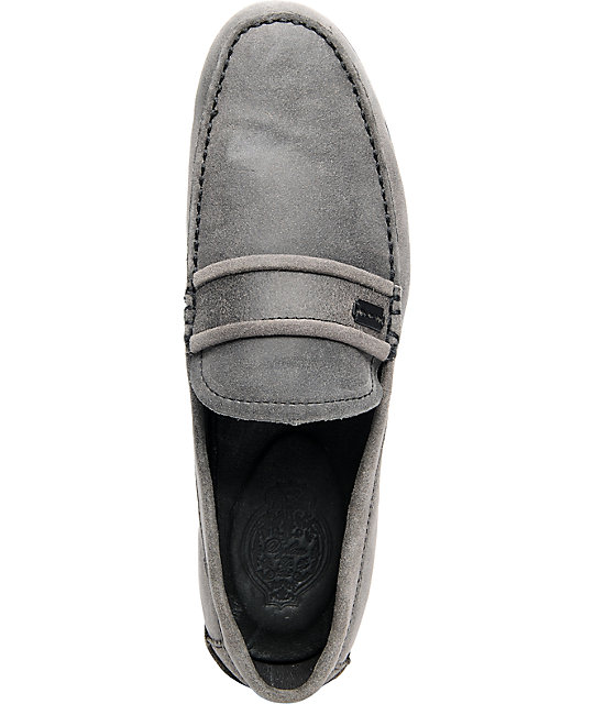 Gravis Rieder Raven Grey Suede Shoes