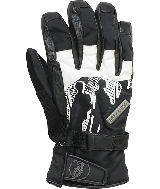 Grenade Apache Mens Black & White Gloves