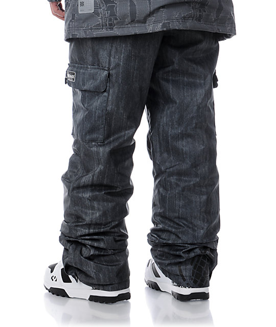 Grenade Army Corps Black Denim 8K Snowboard Pants