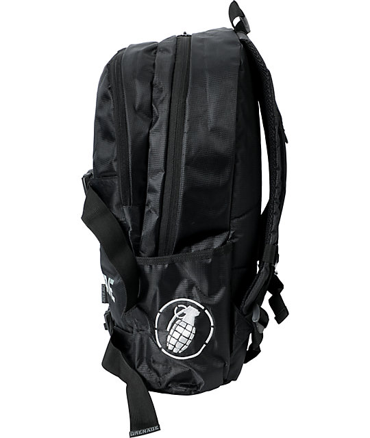 Grenade Black Logo Backpack