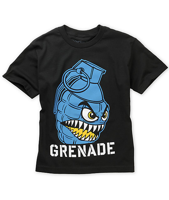 Grenade Boys Chomper Black T-Shirt