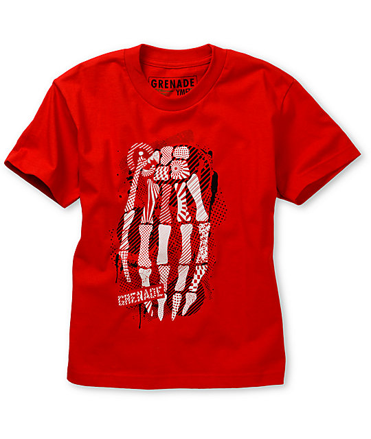 Grenade Boys Skullbomb Red T-Shirt