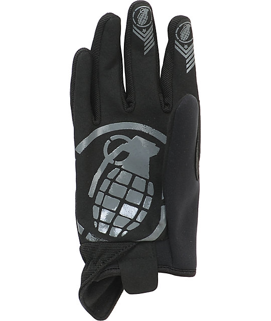 Grenade CC935 Murdered Out Mens Black Pipe Gloves