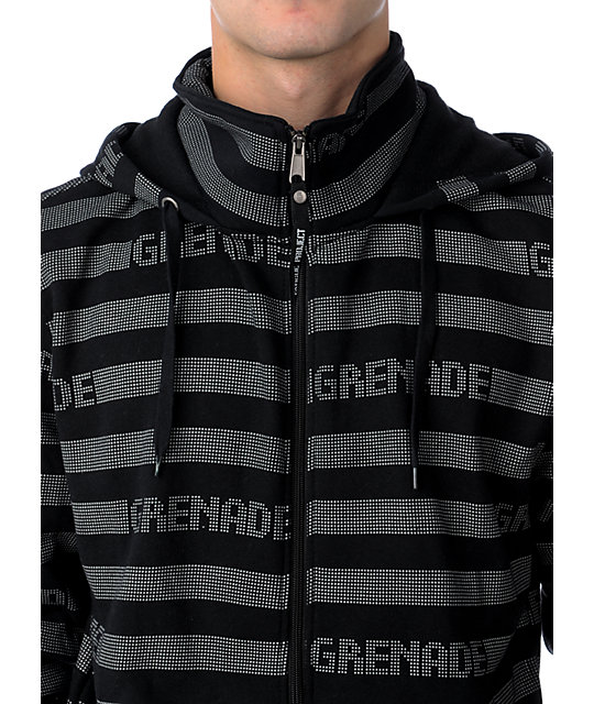 Grenade Castabio Black & Grey Fleece Hoodie