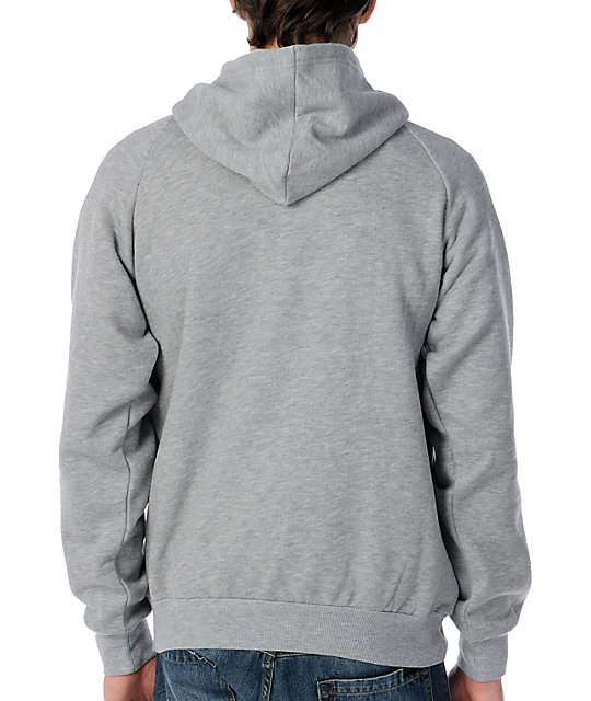 Grenade Checker Stencil Charcoal Pullover Hoodie