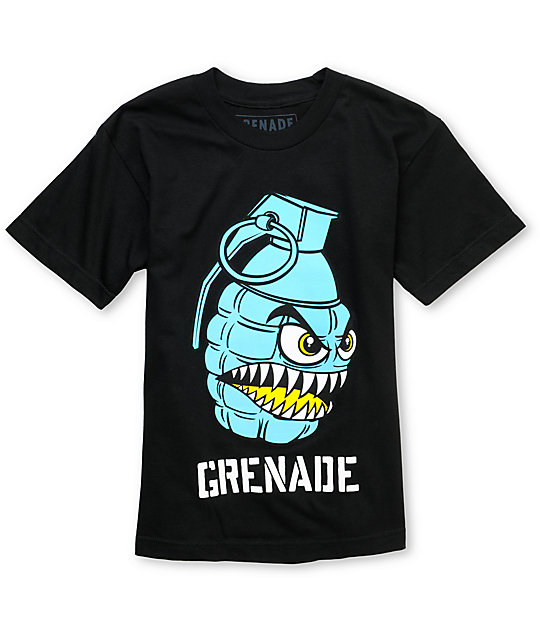 Grenade Chomper Boys Black T-Shirt