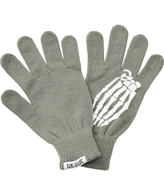 Grenade Crypt Grey Knit Gloves