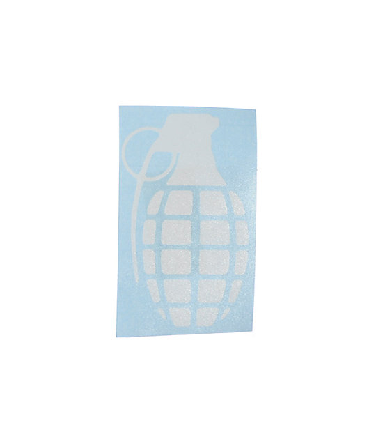Grenade Die Cut Sticker