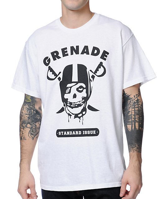 Grenade Game Time White T-Shirt