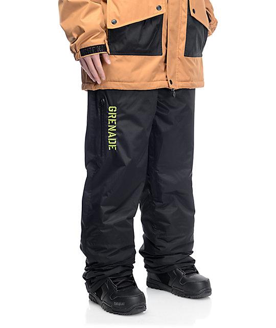 d919e8caca3 Grenade Grindhouse Black 10K Snowboard Pants