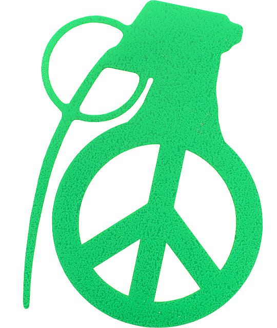 Grenade Peace Bomb 4 Sticker