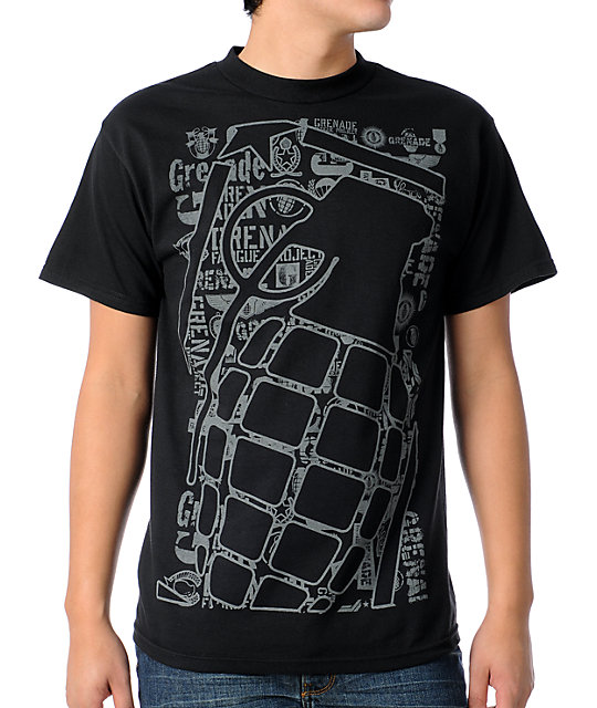 Grenade Repeater Black T-Shirt