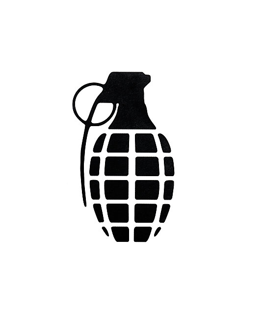 Grenade Solid Black Sticker