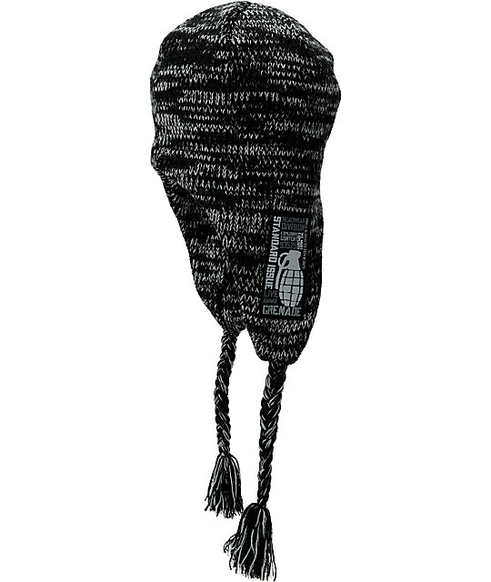 Grenade Uncle Bucker Black Earflap Beanie