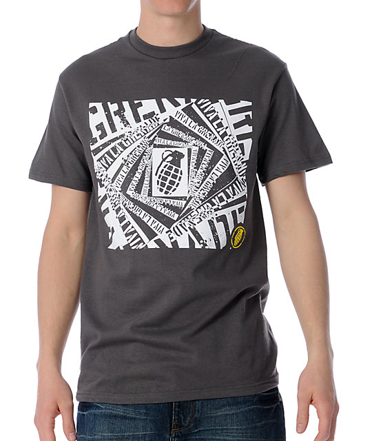 Grenade Viva La Twister Grey T-Shirt