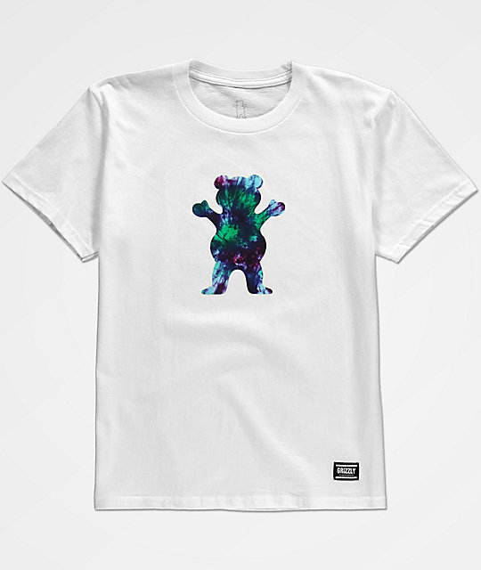 Grizzly Boys OG Bear Tie Dye White T-Shirt