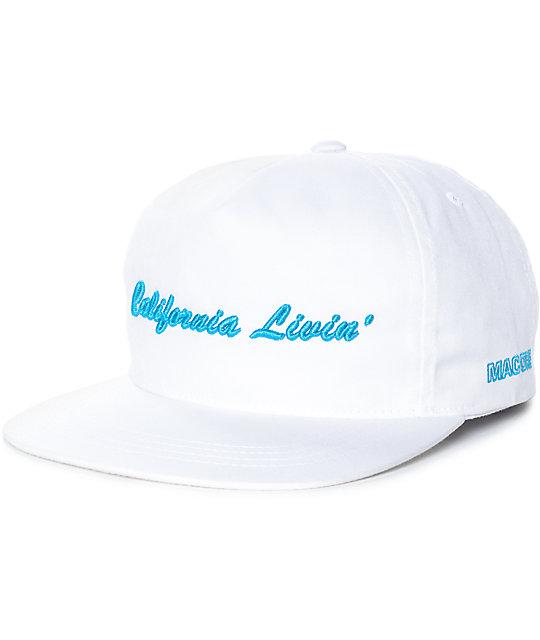 f0b26ac4665 Grizzly California Livin White Snapback Hat