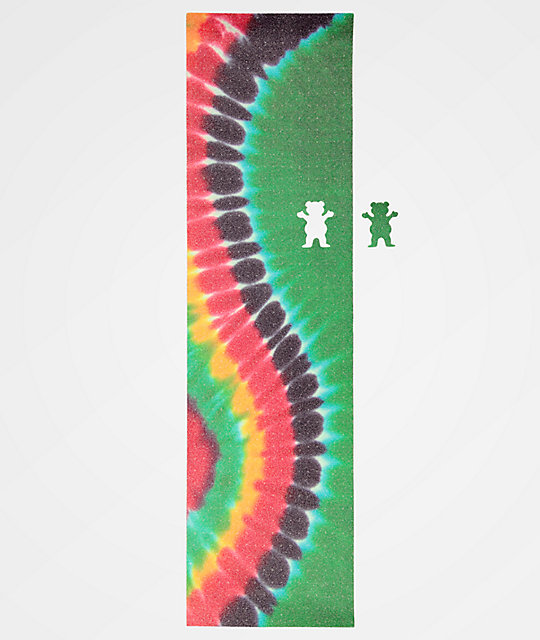 Grizzly Curved Tie Dye Grip Tape