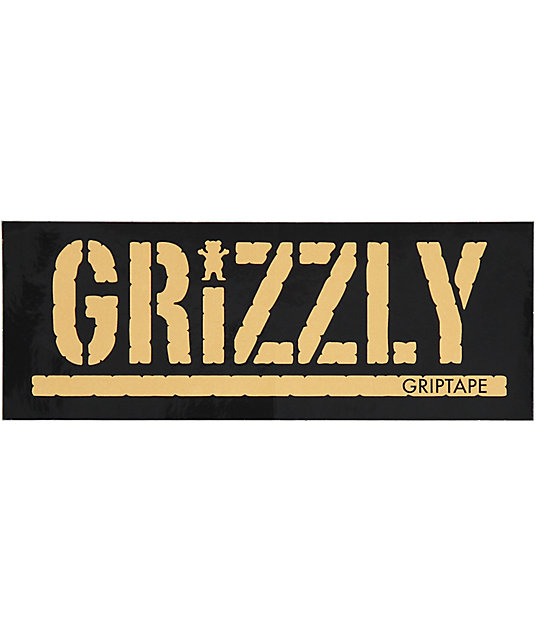 Grizzly Gold Stamp Sticker