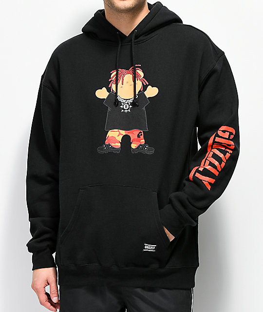 Grizzly Lil Red sudadera con capucha negra