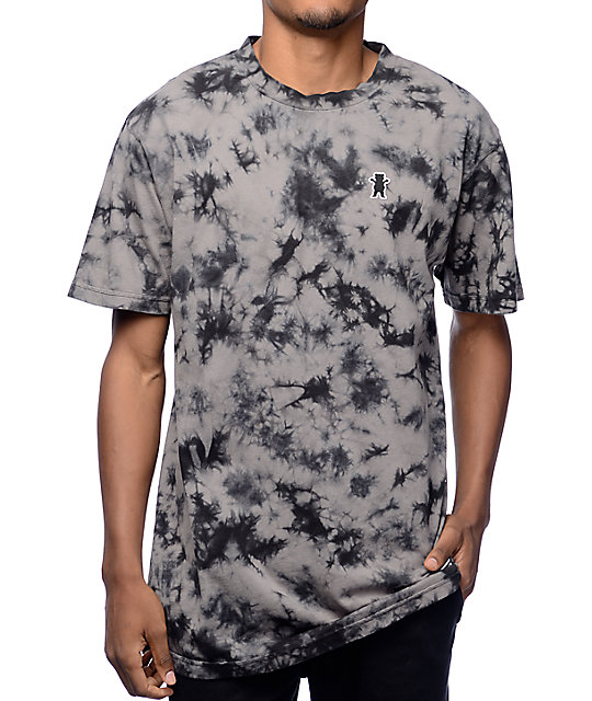 Grizzly Mid Plains Black Tie Dye T Shirt Zumiez