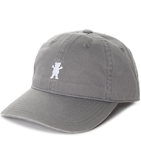 Grizzly Mini Bear Grey Strapback Hat  2e19ee2f049
