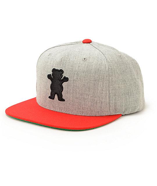Grizzly OG Bear Snapback Hat  df02c75a4d7