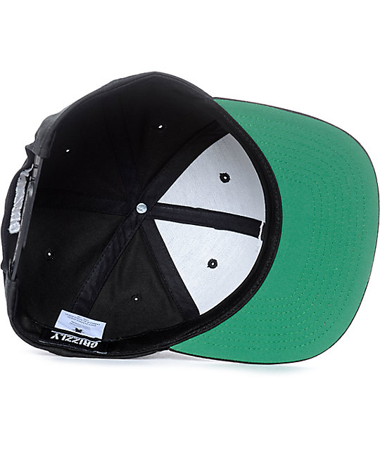 Grizzly On Field G Black Snapback Hat