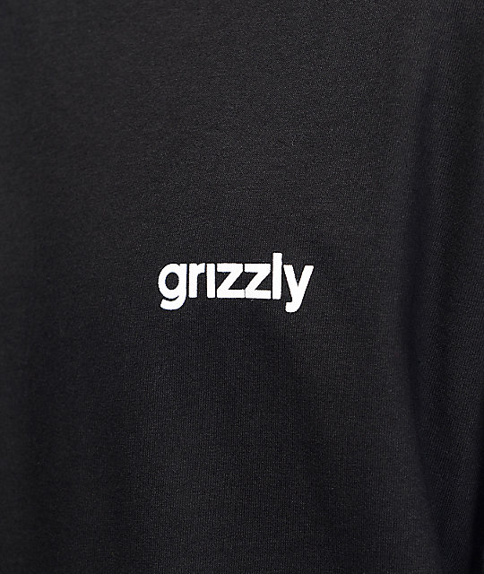 Grizzly Squad Goals Long Sleeve Black T-Shirt