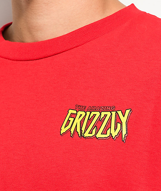 11ad0fde1 Grizzly X Marvels Spider-Man Red Long Sleeve T-Shirt   Zumiez