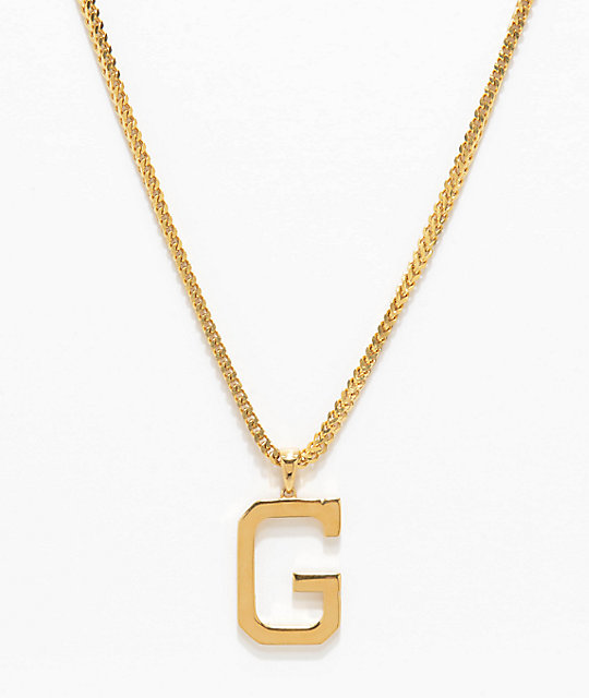 Grizzly x the gold gods g 26 gold chain necklace zumiez grizzly x the gold gods g 26 gold chain necklace aloadofball Images
