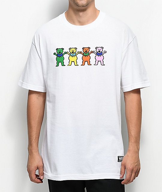Grizzly x Grateful Dead Big Happy Family White T-Shirt
