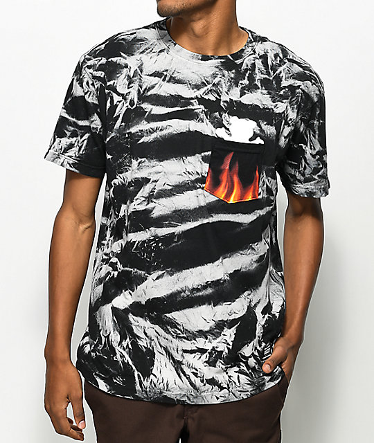 Grizzly x Marvel Ghost Rider Tie Dye Pocket T-Shirt ...